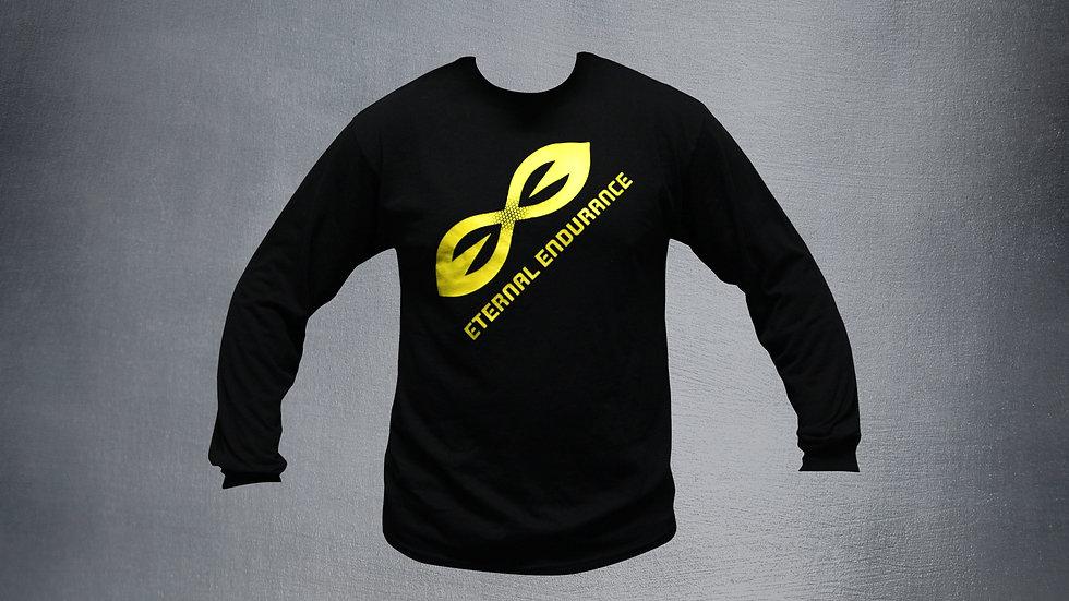 Black with Yellow Logo Unisex, Long Sleeve
