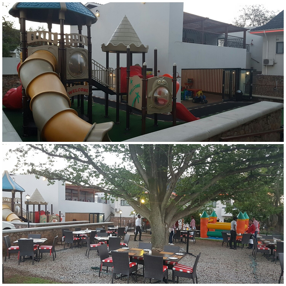 Mike's Kitchen Bryanston play area with dedicated child minders