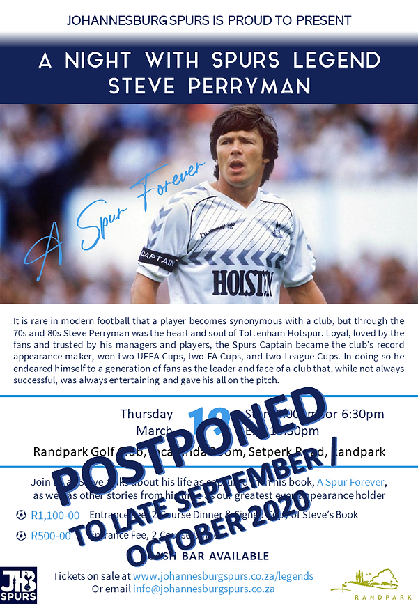 A Night with Spurs Legend Steve Perryman