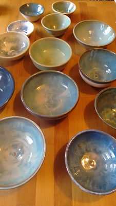 Wide selection of bowls in various glaze finishes