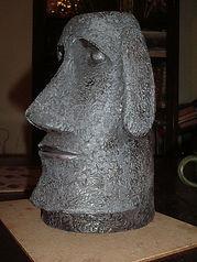 Easter Island hand built head sculpture