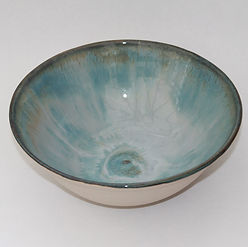White glaze overlaid on turquoise for a misty gloss effect