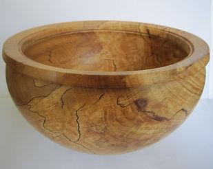 large wooden carved bowl in beech wood