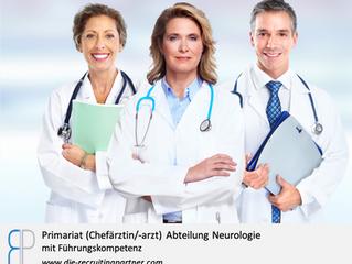 Primariat (Chefärztin/-arzt) Abteilung Neurologie mit Führungskompetenz
