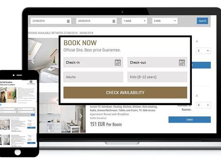 Prenovljen web booking engine - nove lastnosti, nov izgled in odzivni dizajn!
