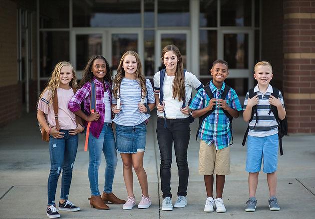 Large Group portrait of pre-adolescent s