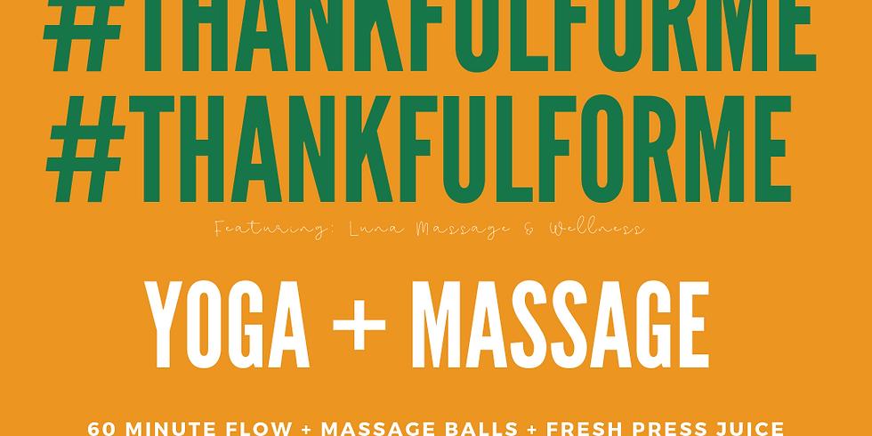 Thankful for Me / Yoga + Massage