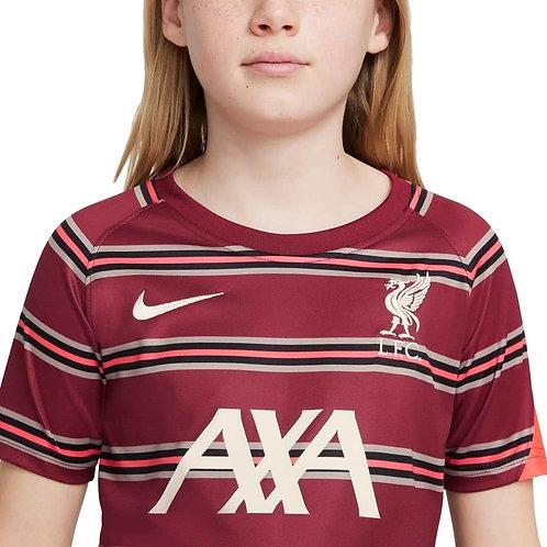 NIKE Maillot Liverpool FC PréMatch Junior 2021-2022 (DB2923-614)