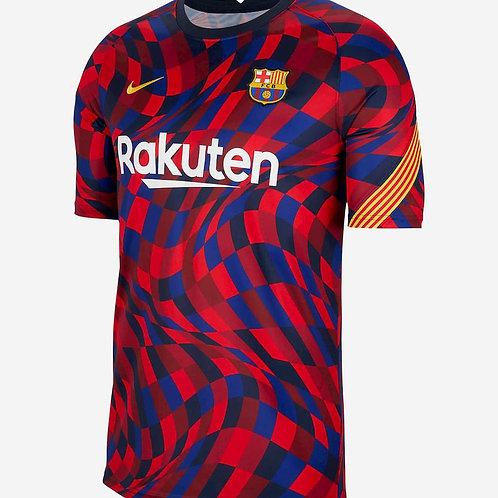 NIKE Maillot Barcelone FC PréMatch Junior 2020-2021 (CD5861-658)