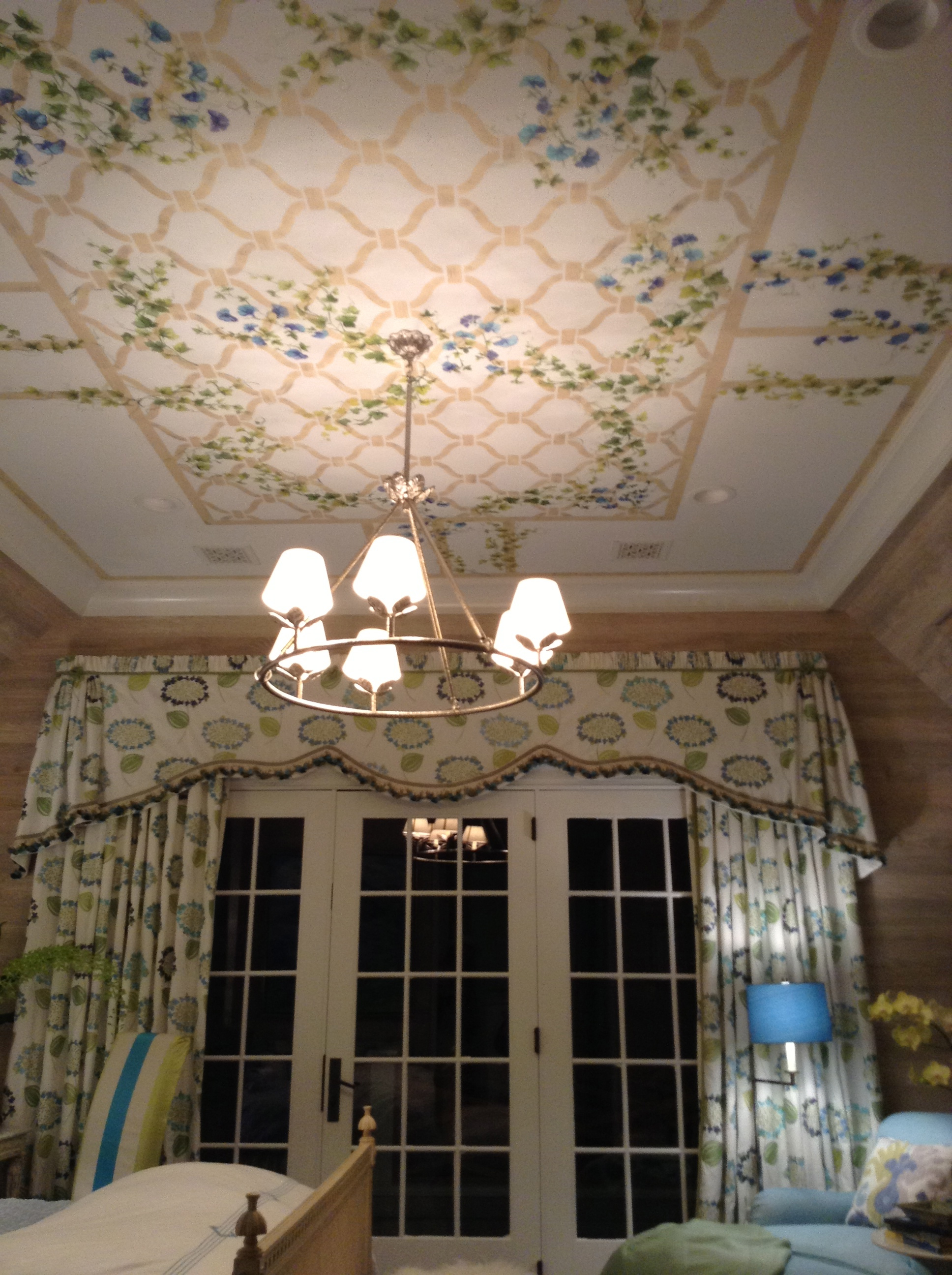 Ceiling stenciling