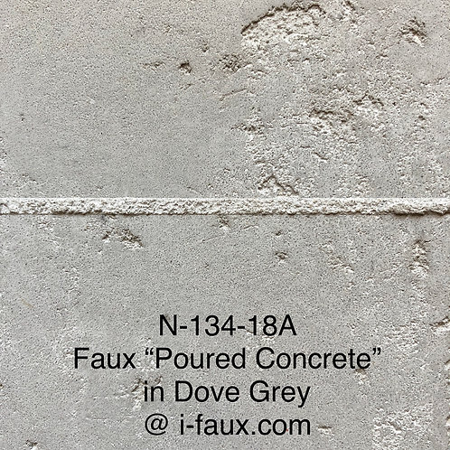 "N-134-18A FAUX ""POURED CONCRETE"" IN DOVE GREY"