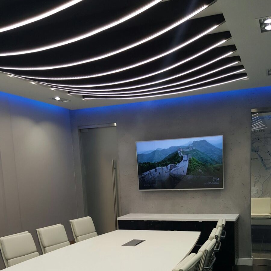 Modern concrete Conference room