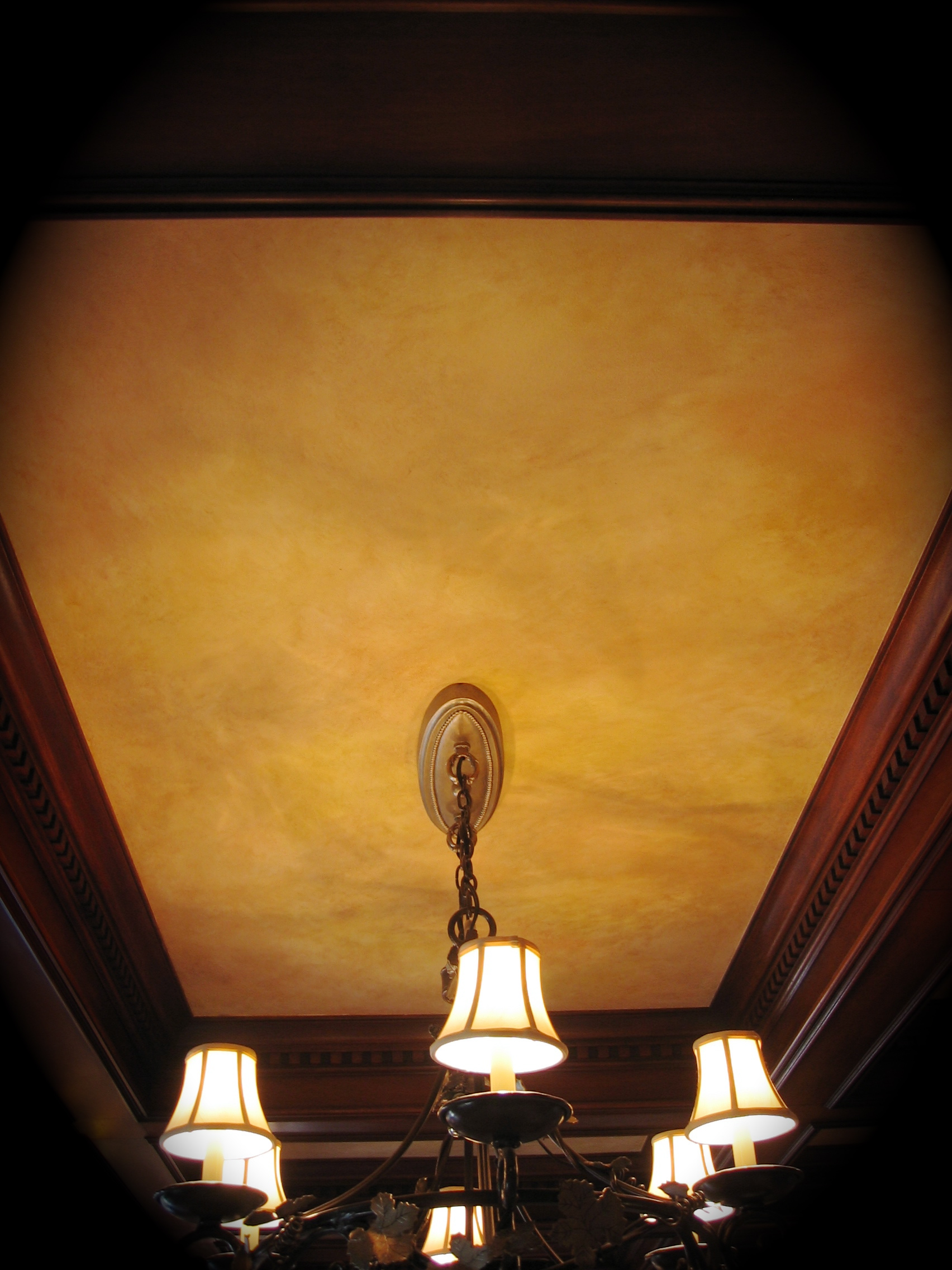 Color-wash on a ceiling