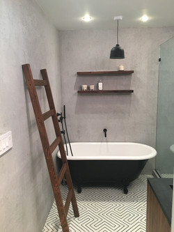 "Bathroom in faux ""Poured Concrete"""
