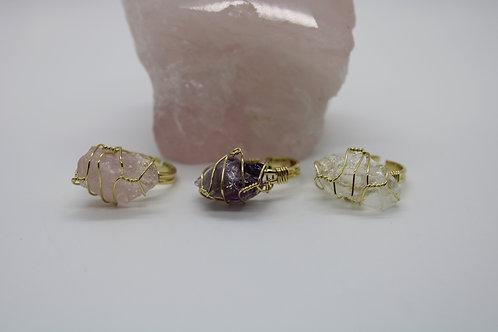 I Feel Wired Gemstone Ring