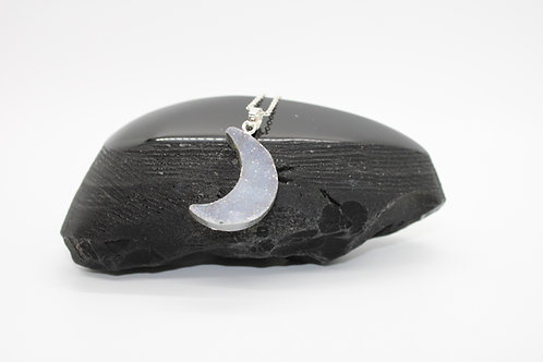 Over The Moon Druzy Necklace