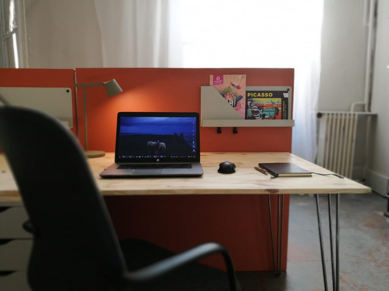 bureau coworking sédentaire