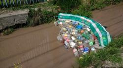 Self-built floating trash collectors