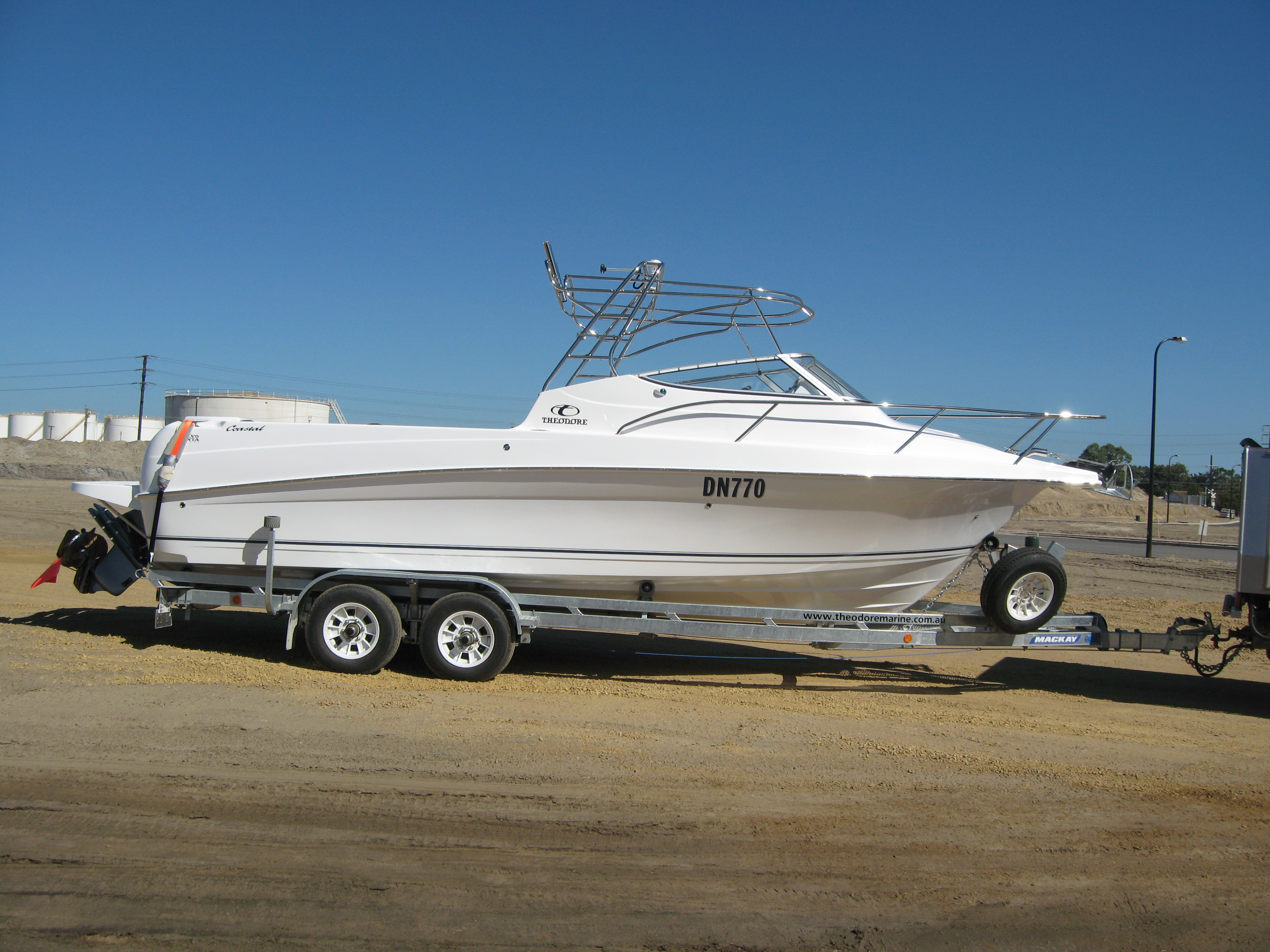 Coastal Bimini on Trailer