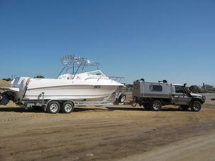 Fibreglass fishing boat, Theodore 720 Coastal Bimini