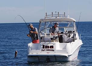 Fibreglass fishing boat, Theodore 720 coastal open hardtop