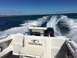 Theodore 720 Offshore transom config