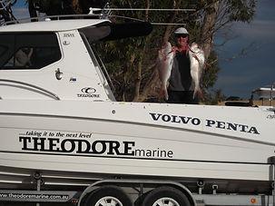 Fish, trailerable, fiberglass fishing boat, Theodore 720 Offhsore Hardtop