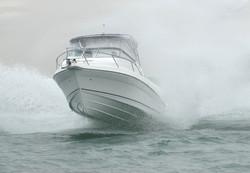 Coastal Bimini punching waves