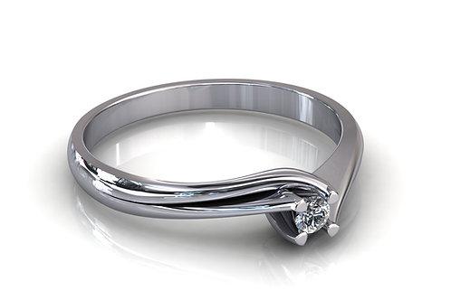 Prsten s dijamantima B195