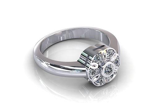 Prsten s dijamantima B130