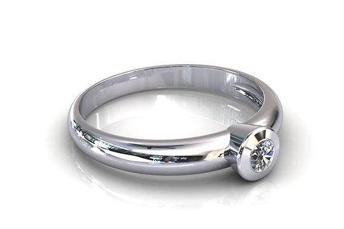 Prsten s dijamantima B140