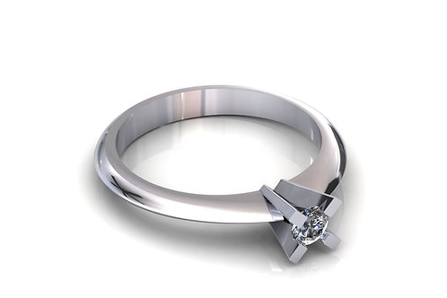 Prsten sa dijamantima B233