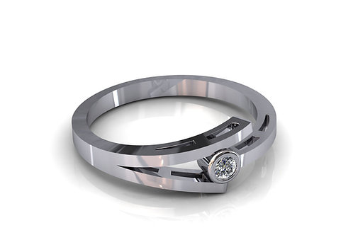 Prsten s dijamantima B241