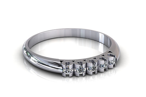 Prsten s dijamantima B177