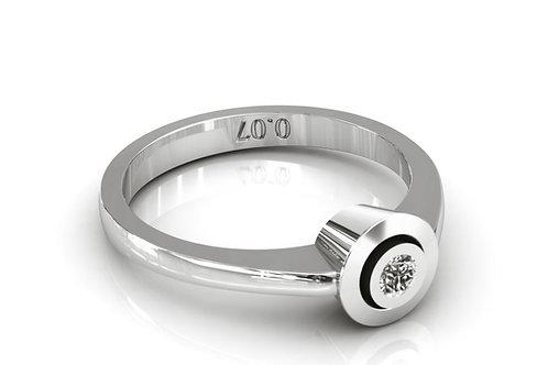 Prsten s dijamantima B114