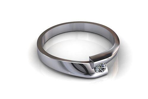 Prsten s dijamantima B243