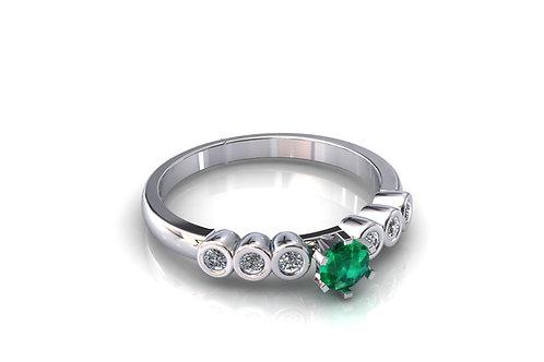 Prsten s dijamantima B239