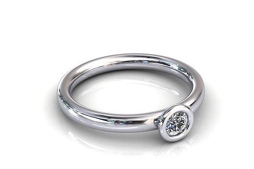 Prsten s dijamantima B133