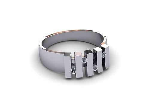 Prsten sa dijamantima B217