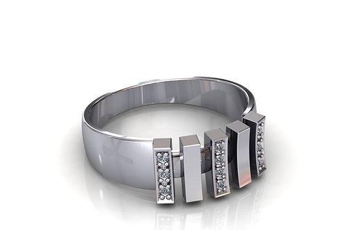 Prsten sa dijamantima B218
