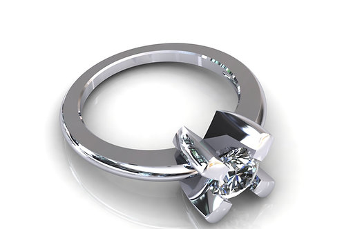 Prsten sa dijamantima B127