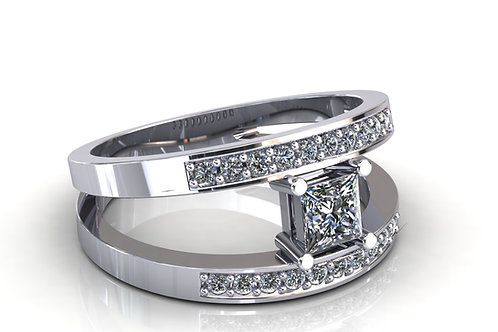 Prsten s dijamantima B113