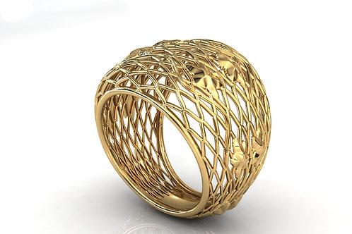 Prsten Čipka 14 kt Zlato
