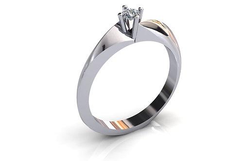 Prsten sa dijamantima B232