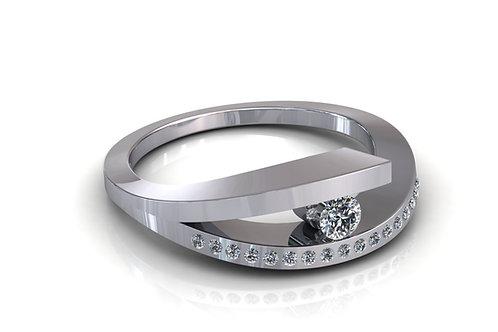 Prsten s dijamantima B192