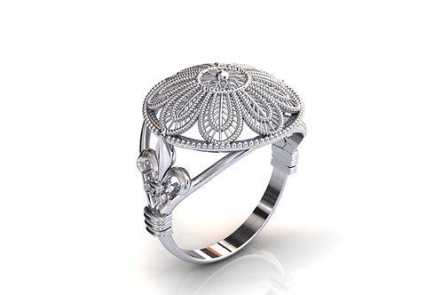 Prsten Čipka Hvar 925 Srebro