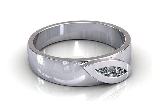 Prsten s dijamantima B136