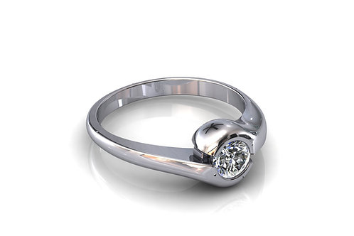 Prsten sa dijamantima B225