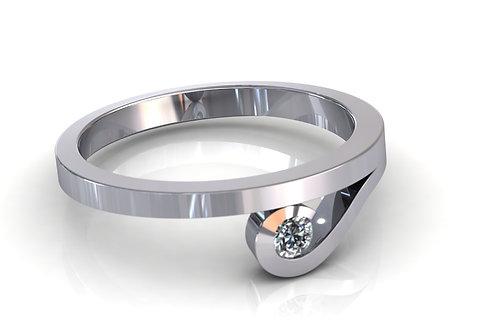 Prsten sa dijamantima B212