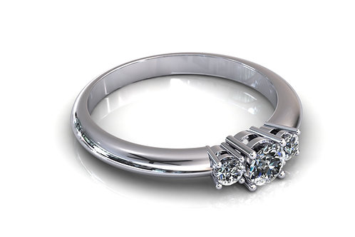 Prsten s dijamantima B151